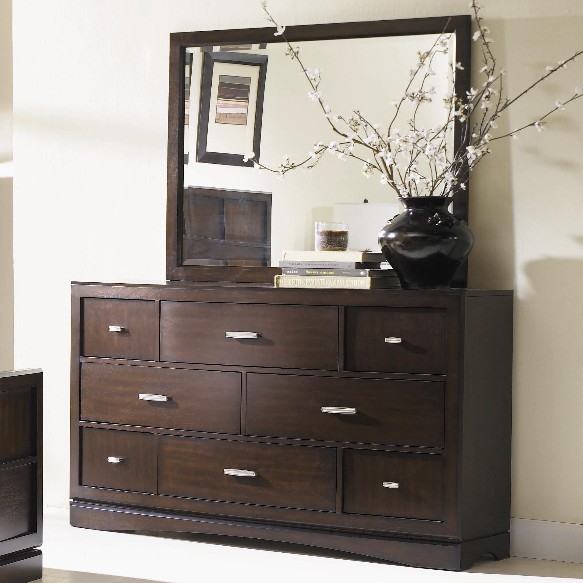 Najarian Key West Dresser and Mirror - Item Number: BDKEYADRP+BDKEYAMRP