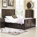 Najarian Key West Cal King Panel Bed with Storage - Item Number: BDKEYAHBKEWP+AFBKWEP+ARSKEP