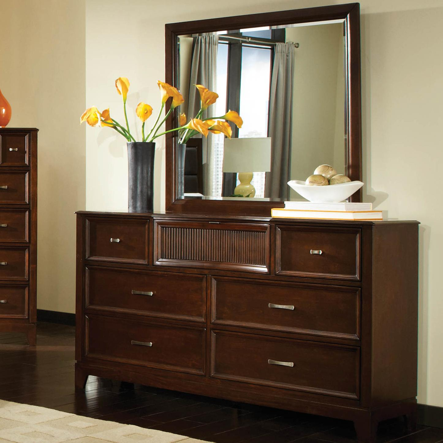 Najarian Melrose  Dresser with Mirror - Item Number: BDMELDRC+BDMELMRC