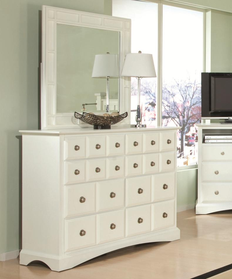 Najarian Palazzo Dresser & Mirror Set - Item Number: BDPALXDRW+BDPALXMRW