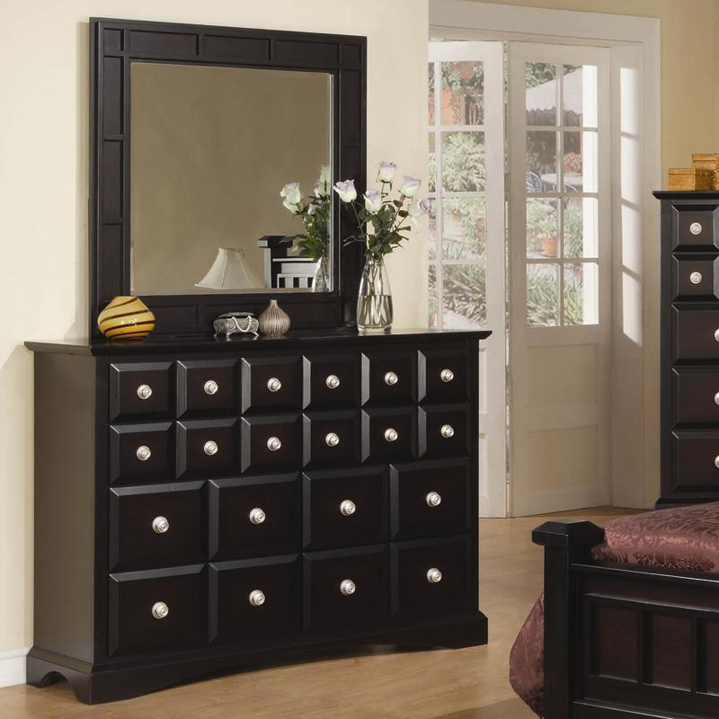 Najarian Palazzo Dresser & Mirror Set - Item Number: Dresser+Mirror