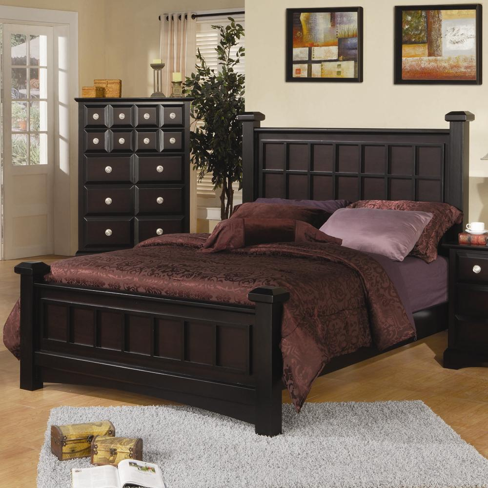 Najarian Palazzo California King Low Post Bed - Item Number: BDPALHBKWPE+FBKWPE+RSKWPE