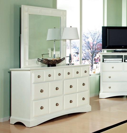 Najarian Palazzo Youth Bedroom Dresser and Mirror - Item Number: BDPALXYDW+BDPALXMRW