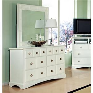 Najarian Palazzo Youth Bedroom Dresser and Mirror