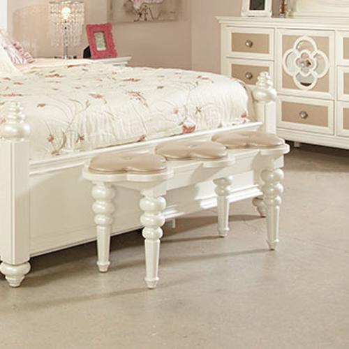 Najarian Paris Youth Bedroom Paris Bedside Bench - Item Number: BDPARBBP