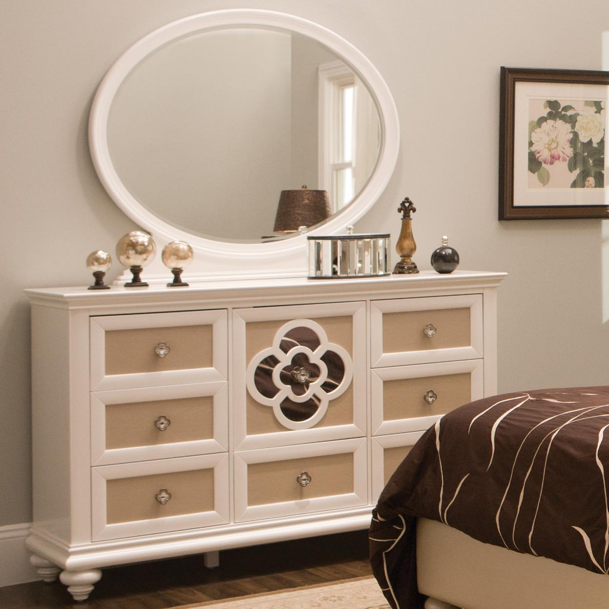 Najarian Paris Youth Bedroom Dresser & Mirror - Item Number: BDPARDRP+BDPARMRP
