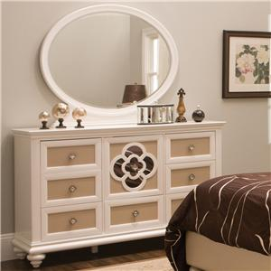 Najarian Paris Youth Bedroom Dresser & Mirror