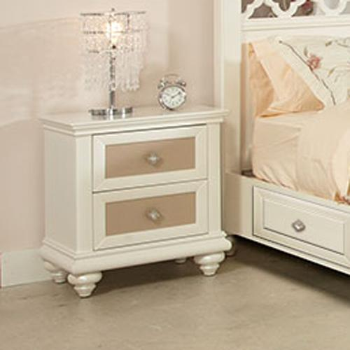 Paris Nightstand: Najarian Paris Youth Bedroom BDPARNS2P Two Drawer
