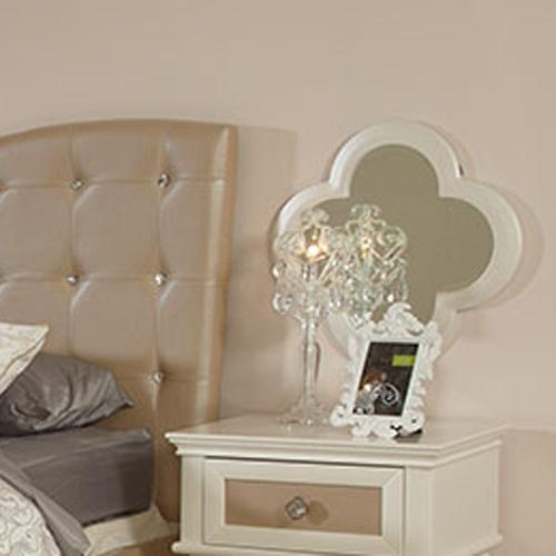 Najarian Paris Youth Bedroom Nightstand Mirror - Item Number: BDPARNSMP