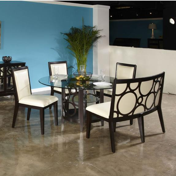 Najarian Planet 5 Pc Dining Set - Item Number: DTPLAFTR+ DTPLABRB+3XCRPLASC+CRSB