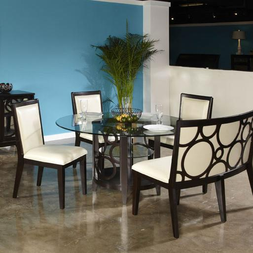 Najarian Planet Round Dining Table - Item Number: DTPLAFTR+ DTPLABRB