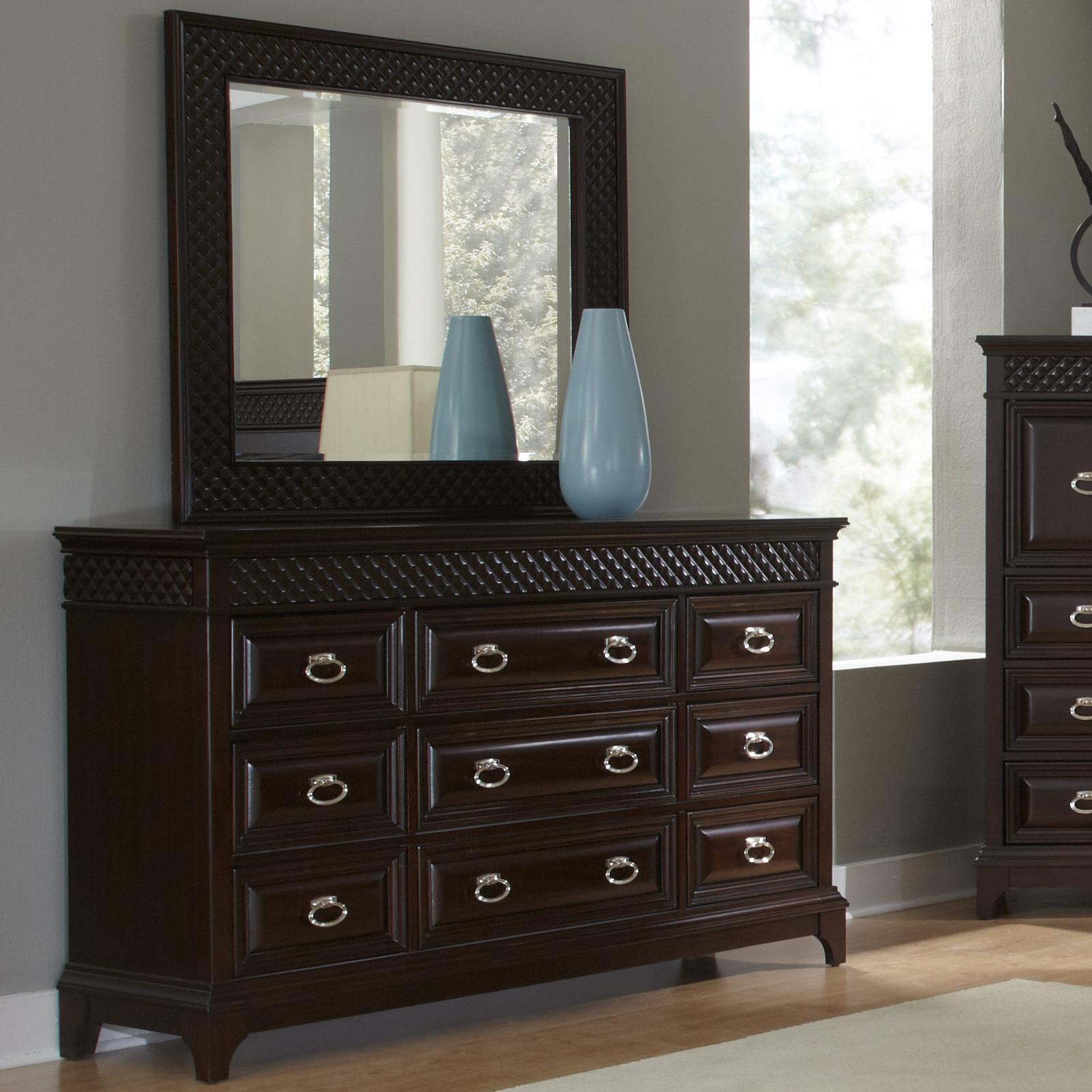Najarian Sonoma Dresser with Landscape Mirror - Item Number: BRSONDR+MR