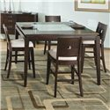 Najarian Spiga 5-Piece Counter Height Dining Set - Item Number: CH Table+4xStools