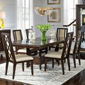 Najarian Westwood Dining 7 Pc Dining Set - Item Number: DTWESFT+DTWESFTB+6XCRWESDS