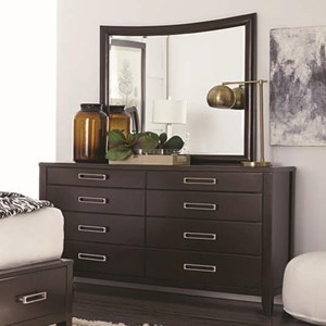 Najarian Wilshire 8 Drawer Dresser and Mirror