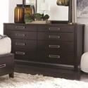 Del Sol NF Wilshire 8 Drawer Dresser - Item Number: BDWILDR