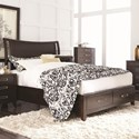 Najarian Wilshire King Size Storage Bed - Item Number: BDWILHBK+FBK+RSKW