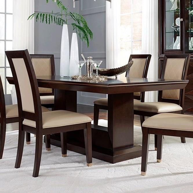 Najarian Furniture Woodbridge Dtwooft Fb Rectangular Dining Table With Black Glass Top Del Sol Furniture Dining Tables