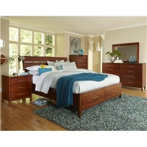 Napa Furniture Designs Boston Brownstone Queen Storage Bed