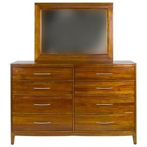 Napa Furniture Designs Boston Brownstone 8 Drawer Dresser
