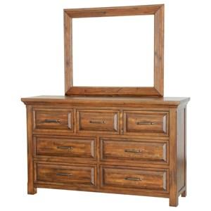 Warehouse M Hill Crest Dresser with Mirror