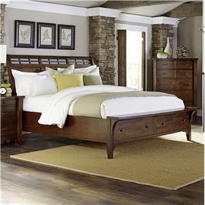 Napa Furniture Designs Whistler Retreat Queen Storage Bed