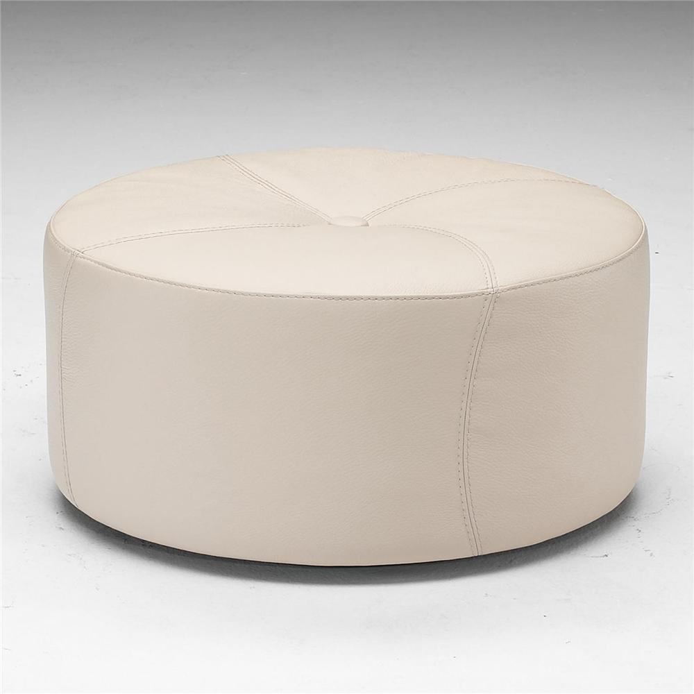 A921 Round Ottoman by Natuzzi Editions at Sadler's Home Furnishings