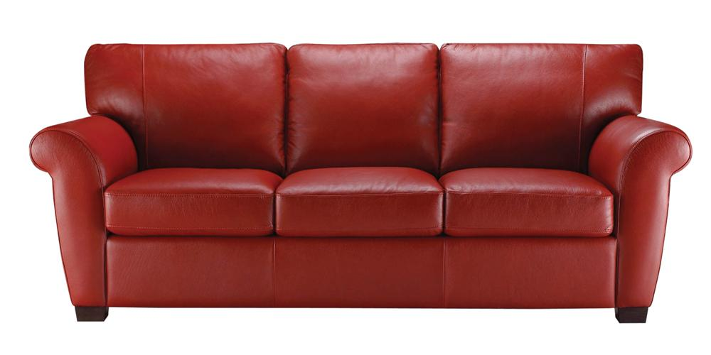Natuzzi Editions A121 Stationary Leather Sofa - Item Number: A121