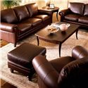 Natuzzi Editions A855 Traditional Upholstered Sofa - Shown with Loveseat, Chair, and Ottoman