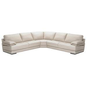 Natuzzi Editions B504 Sectional with  Corner Wedge