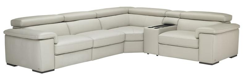 Natuzzi Editions B620 5 Piece Power Reclining Sectional - Item Number: B620-450+291+011+323+452