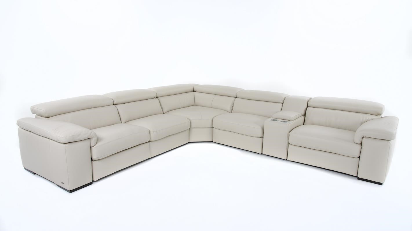 Natuzzi Editions B620 6 Pc Power Reclining Sectional - Item Number: B620-450+011+323+452+2X291