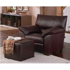 Natuzzi Editions B632 Leather Chair and Ottoman