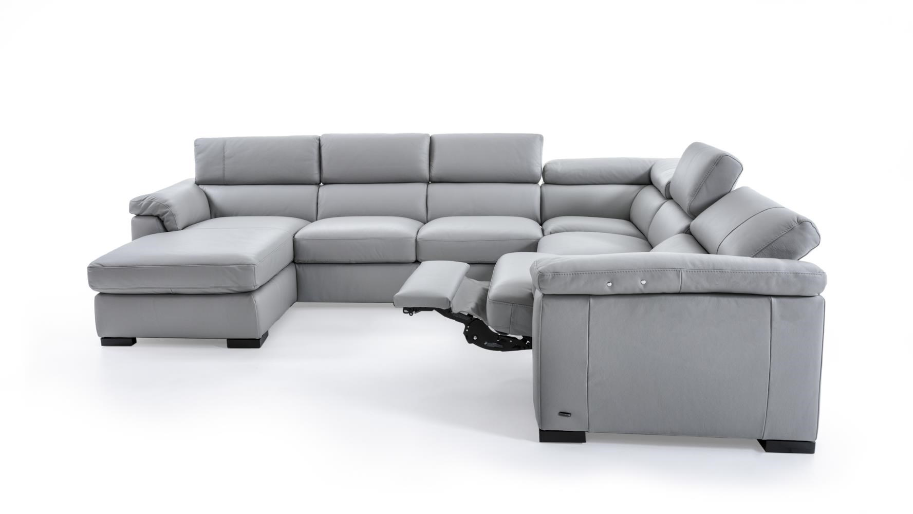 Natuzzi Editions B634 B634 Sect 1 Gray Contemporary