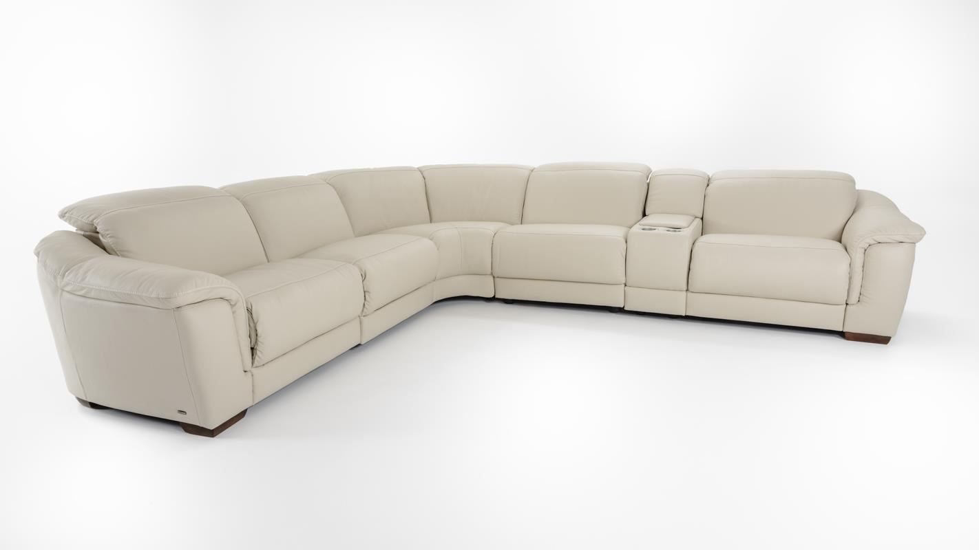 Natuzzi Editions B641 6 Pc Power Reclining Sectional - Item Number: B641-450+338+029+452 BEIGE