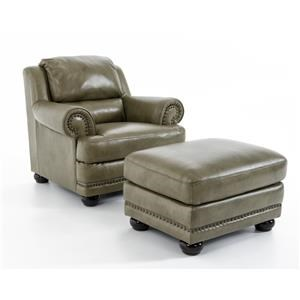 Natuzzi Editions B642 Chair & Ottoman Set