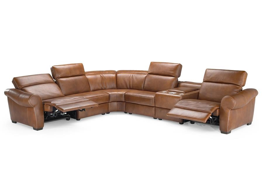 Natuzzi Editions B751 Reclining Sectional - Item Number: B751-450+2x291+029+307+452
