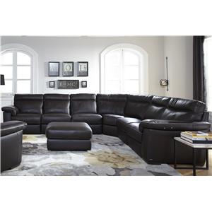 Natuzzi Editions B757 4 Pc Power Reclining Sectional Sofa