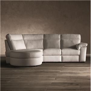 Natuzzi Editions B757 3 Pc Stationary Sectional Sofa