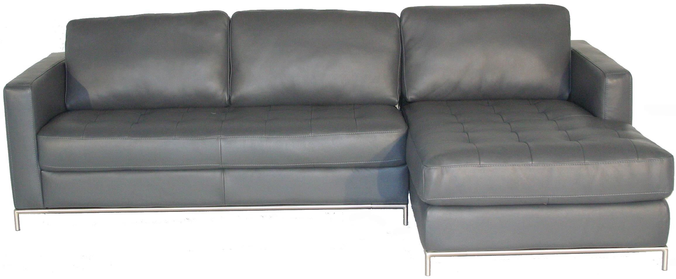 Natuzzi editions b805 right arm facing sofa chaise with for Button tufted chaise settee