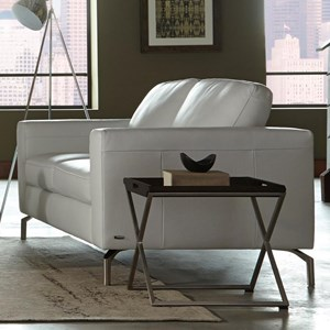 Contemporary Loveseat With Box Cushion Seats