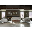 Natuzzi Editions B845 Contemporary Loveseat with Box Cushion Seats