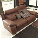 Natuzzi Editions B875 Casual Power Reclining Petite Love Seat