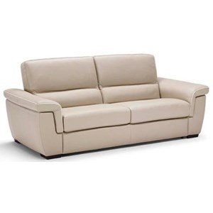 sofa sleeper with pillow arms and block feet - Natuzzi Sofa