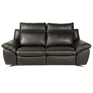 Exceptionnel Contemporary Loveseat With Pillow Arms