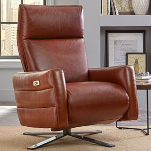 Natuzzi Editions B958 Power Recliner with Battery Pack