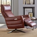 Natuzzi Editions B958 Contemporary Power Recliner with Metal Pedestal Base