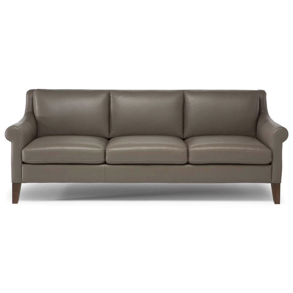 Natuzzi Editions Dolcezza Contemporary Sofa with Tapered Legs ...