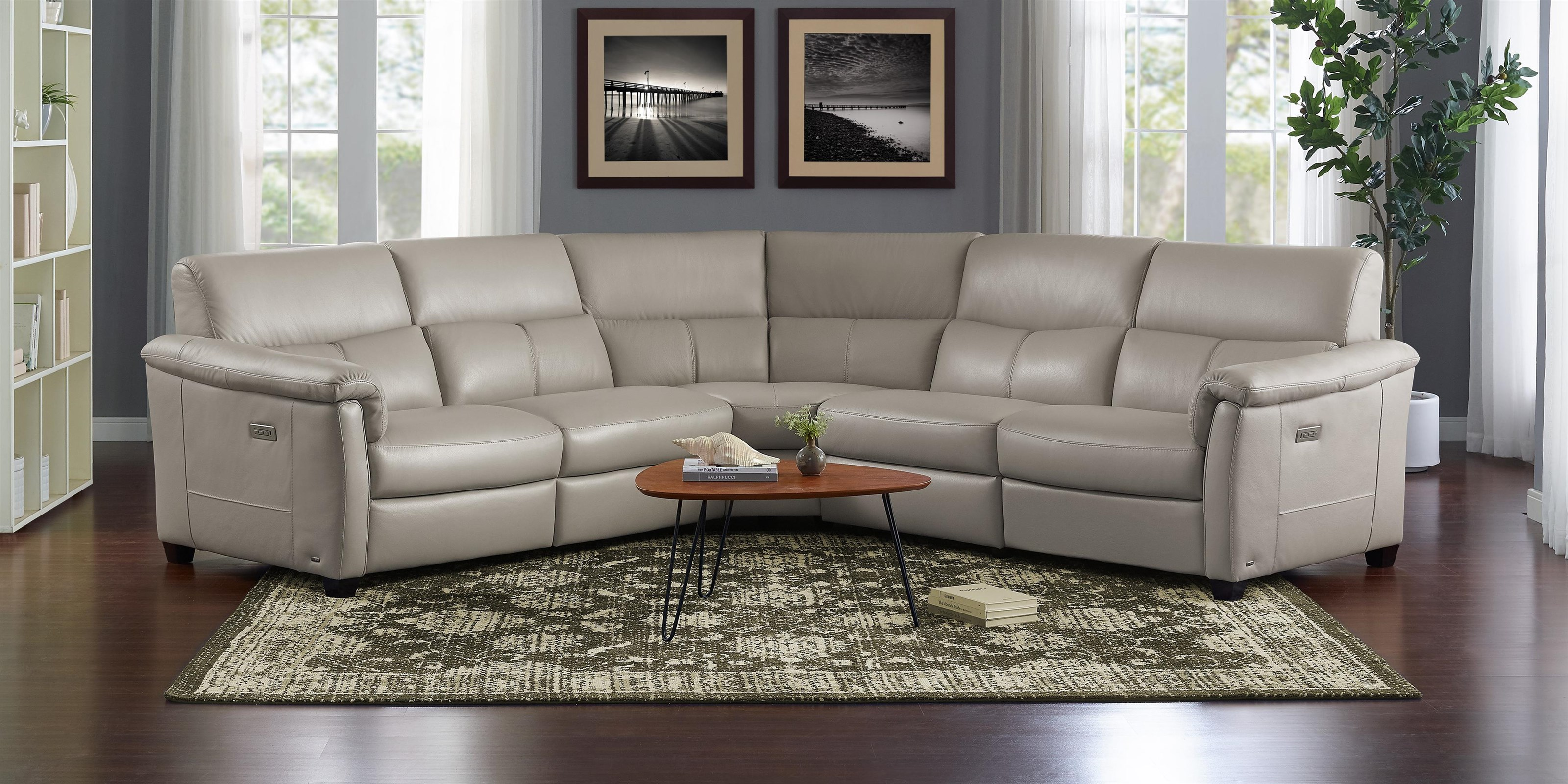 Astuzia 5 Pc Reclining Sectional Sofa by Natuzzi Editions at Baer's Furniture