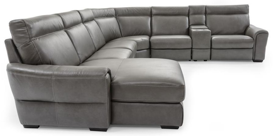 Natuzzi Editions Energia C046 Sectional Contemporary 7 Pc